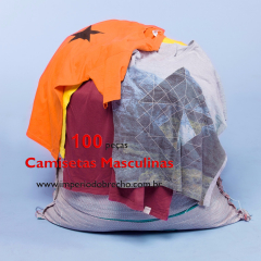 Lote de Roupas para Brechó - Camisetas Masculinas 100 peças