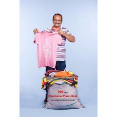 Lote de roupas para brechó - Camisetas masculinas 100 peça