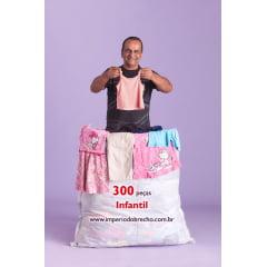 Lote de roupas usadas infantil - Mistinha 300 peças